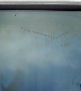 フロントガラスひび割れ